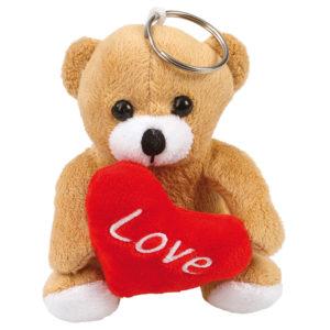 Alla Hjärtans Dag Nyckelrings Nalle med Hjärta