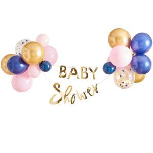 Baby Shower Girlang & Ballonger Kit