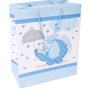 Babyshower kasse blå