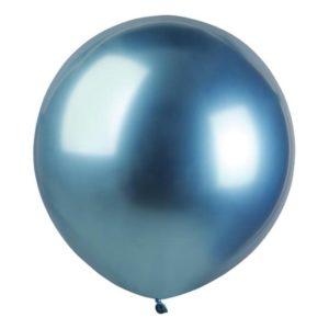 Ballonger Krom Blå Stora - 25-pack
