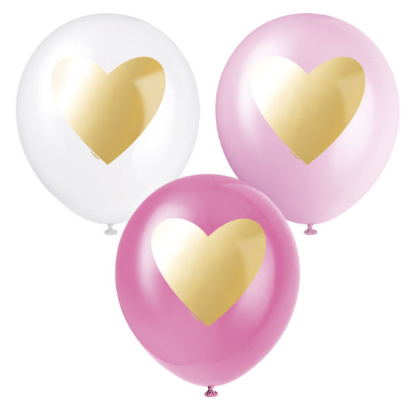 Ballonger med Guld Hjärta