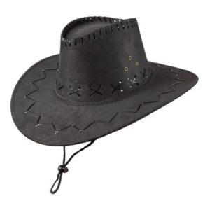 Cowboyhatt Fuskläder Svart - One size