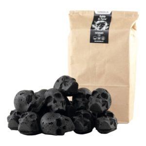 Dödskalle Grillbriketter - 15-pack Mini Dödskallar