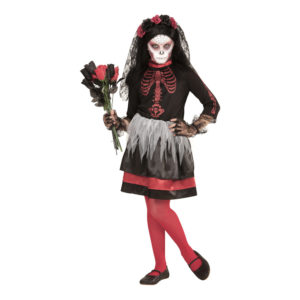Dia De Los Muertos Brud Barn Maskeraddräkt - Small