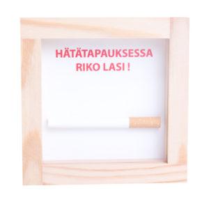 Finsk i nödfall krossa glaset cigarett