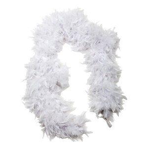 Fjäderboa fluffig - Vit