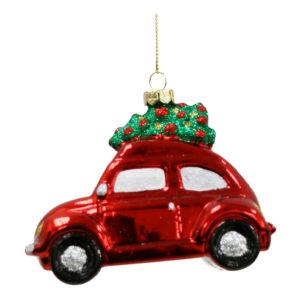 Julgranshänge Bil med Gran - 1-pack