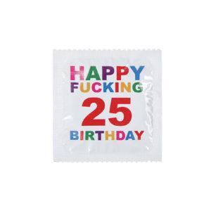 Kondom Happy Fucking 25 Birthday