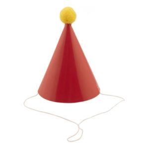Kräfthatt Mini Röd med Pom Pom - 4-pack