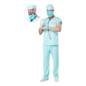 Lömsk Kirurg Maskeraddräkt - Medium