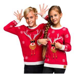 Make It Rein Röd Jultröja för Barn - X-Large