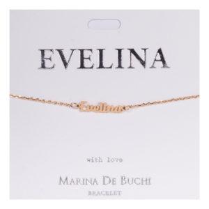Namnarmband Guld - Evelina