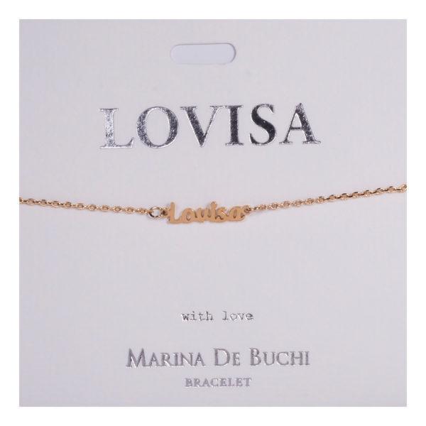 Namnarmband Guld - Lovisa