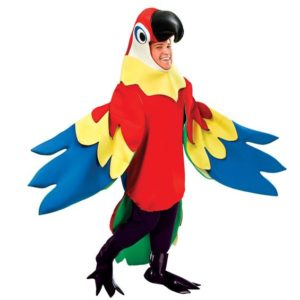 Papegoja Deluxe Maskeraddräkt