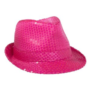 Partyhatt Rosa med Paljetter - One size