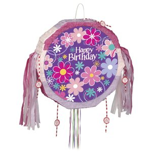 Pinata - Happy birthday blommor