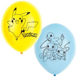 Pokemon Ballonger Blå och Gul
