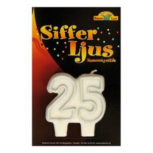 Sifferljus 25 Silver