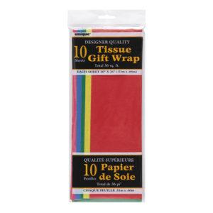 Silkespapper Flerfärgade - 10-pack