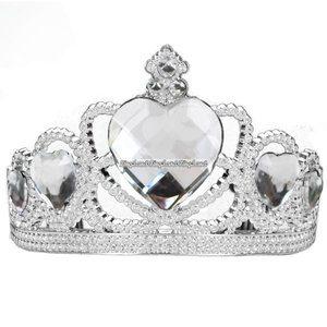 "Silvertiara med transparenta ""diamanter"