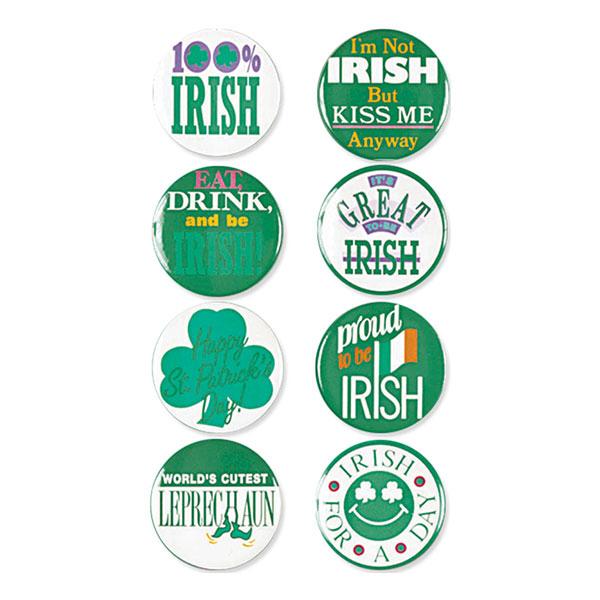 St. Patrick's Day Knappar - 8-pack