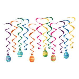 Swirls Påskägg Hängande Dekoration - 12-pack