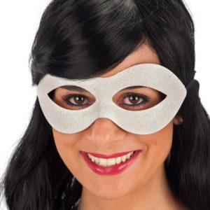 Vit Ögonmask med Glitter
