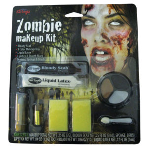 Zombie Smink Kit med Läppstift