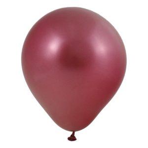 Ballonger Krom Röd - 50-pack