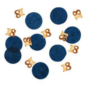 Bordskonfetti Happy 18th True Blue - 25 gram