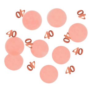 Bordskonfetti Happy 40th Lush Blush - 25 gram