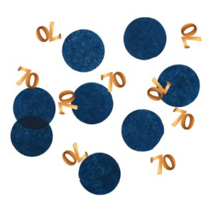 Bordskonfetti Happy 70th True Blue - 25 gram