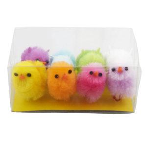 Färgglada Påskkycklingar