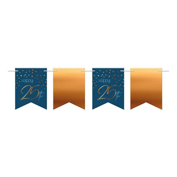 Flaggirlang Happy 25 True Blue - 36-pack