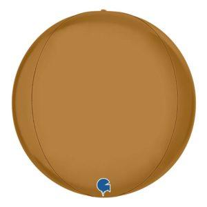 Folieballong Globe Guld