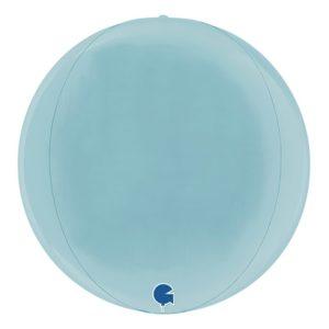 Folieballong Globe Pastellblå
