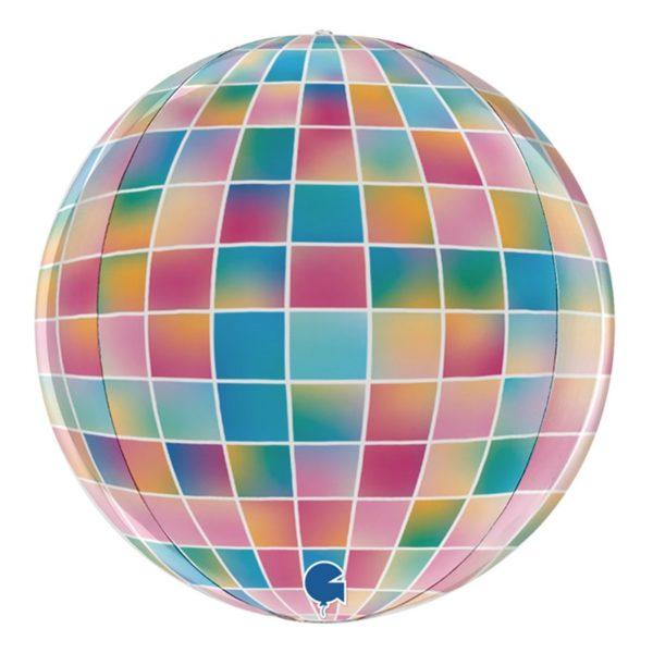 Folieballong Globe Stor Discokula