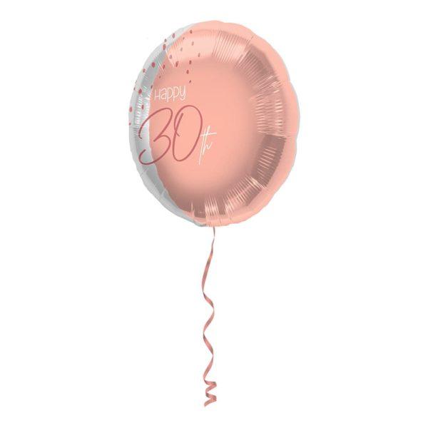 Folieballong Happy 30th Lush Blush - 45 cm