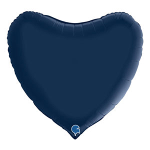 Folieballong Hjärta Stort Mörkblå