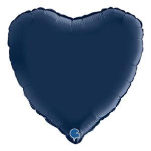 Folieballong Mörkblå Hjärta