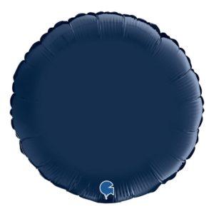 Folieballong Rund Satin Marinblå - 46 cm