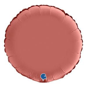 Folieballong Rund Satin Roséguld - 91 cm