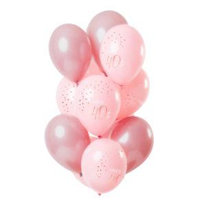 Latexballonger Happy 40th Lush Blush - 12-pack