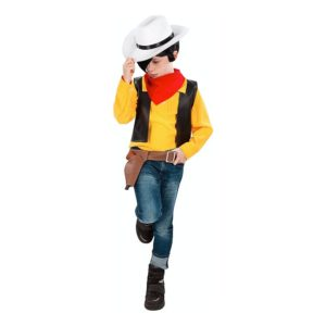 Lucky Luke Cowboy Barn Maskeraddräkt - Large