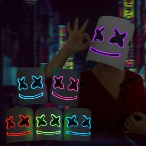 Marshmello El Wire LED Mask - Grön