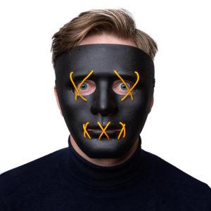 Mask med trådar-Gul