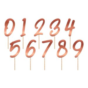 Tårtdekoration Siffror Lush Blush - 20-pack