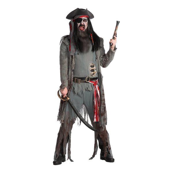 Zombie Pirat Deluxe Maskeraddräkt - Medium