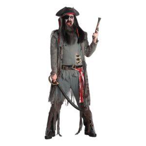 Zombie Pirat Deluxe Maskeraddräkt - XX-Large