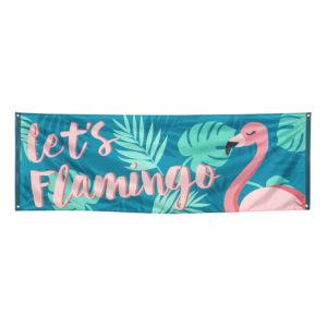 Banderoll Let's Flamingo